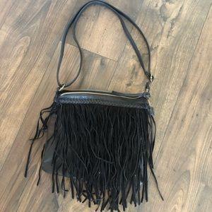 Fringe satchel purse